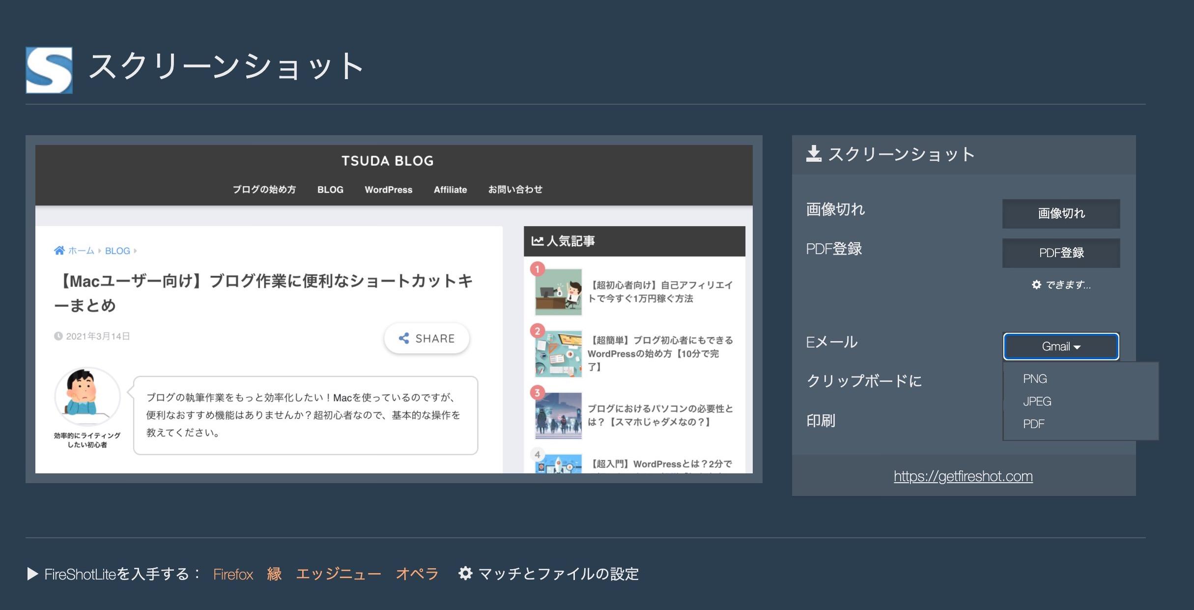 FireShotの画面