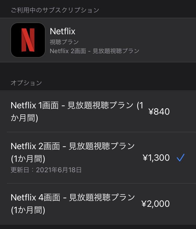 Netflixの契約プラン