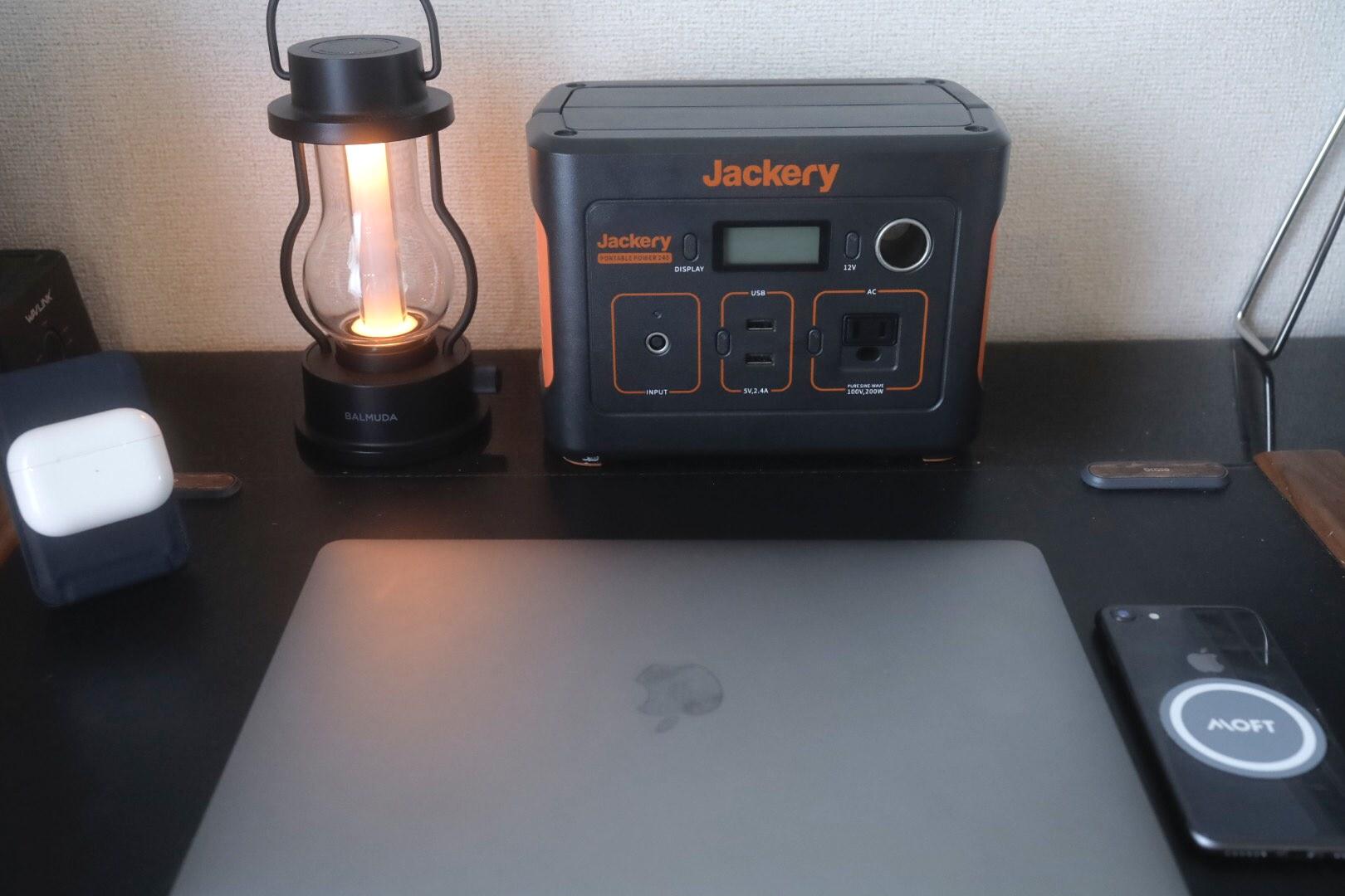デスクでJackaryを使っている様子