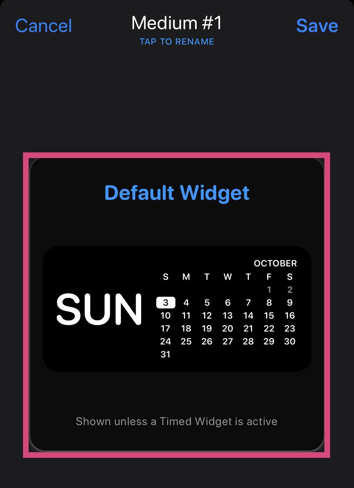 Default Widget
